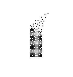 Building icon dispersed building brick dot icon vector