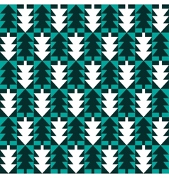Christmas fir tree abstract seamless pattern vector image