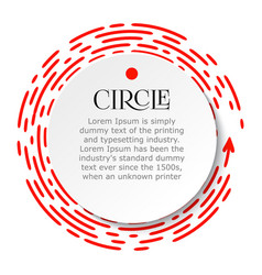 circle infographic bright red dotted line under vector image