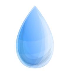 clean water drop icon cartoon style vector image