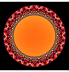 Colorful ethnic sun geometric aztec circle vector