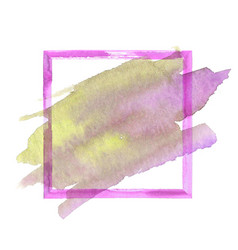 Colorful watercolor grunge frame vector