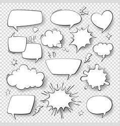 comic speech bubbles cartoon comics talking and vector image