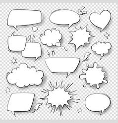 comic speech bubbles cartoon comics talking vector image