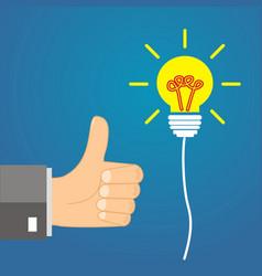 concept idea - leadership approves the idea vector image