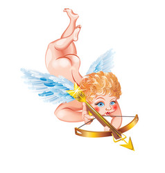 cupid with a crossbow vector image