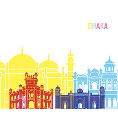 Dhaka skyline pop vector