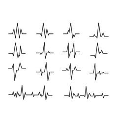 Ecg sinusoidal pulse lines frequency heartbeat vector