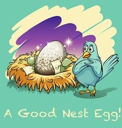Egg in the nest vector