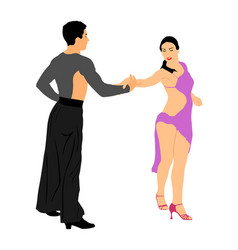 Elegance tango latino dancers couple in love vector