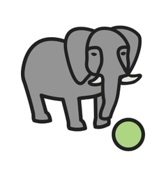 Elephant Performing vector