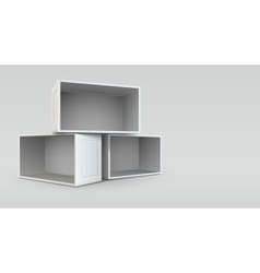 Empty open boxes vector image