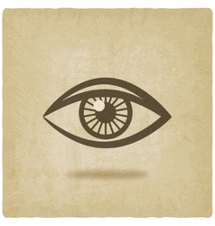 eye symbol old background vector image