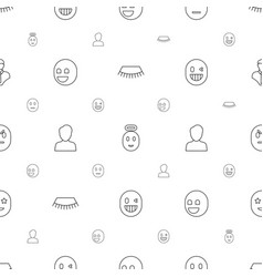 Face icons pattern seamless white background vector