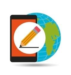 Global writing social network vector