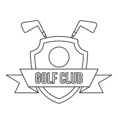 Golf club icon outline style vector