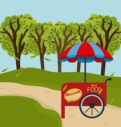 Green park design vector