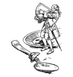 Gullivers travels vintage vector