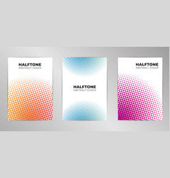 halftone cover design background set a4 format vector image