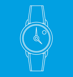 Hand watch icon outline style vector