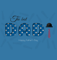 Happy father s day calligraphy greeting card vector