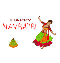happy navratri vector image