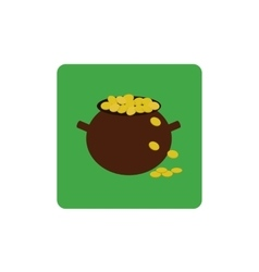 Icon pot of gold vector image
