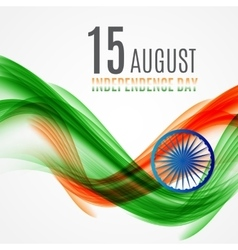 Indian Independence Day Background with Waves and vector image