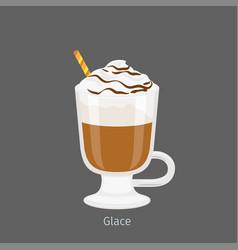 irish glass mug with coffee glace flat vector image