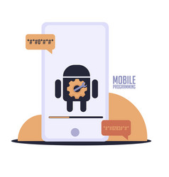 Isolated android tools programming vector