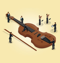 Isometric orchestra template vector