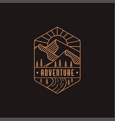 Landscape outdoor adventure logo vector