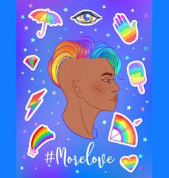 lgbt poster design gay pride lgbtq concept vector image