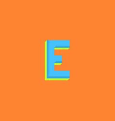 logo e letter minimal bold style halftone colors vector image