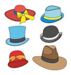 male and female hats vector image