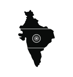 map india with image national flag vector image