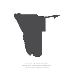 Map namibia isolated black vector