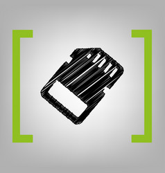 memory card sign black scribble icon in vector image