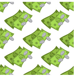 Money seamless pattern on a white background for vector