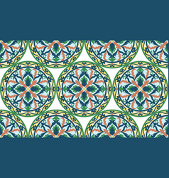 Mosaic classic colorful medallion seamless vector