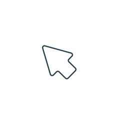 mouse cursor arrow click line icon stock isolated vector image