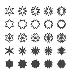 multi pointed star icon vector image