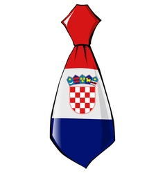 Necktie in national colours of Croatia vector