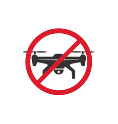 no drone zone signs image vector image