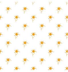 Orange drops of honey pattern vector