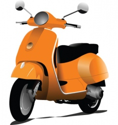 Orange scooter vector