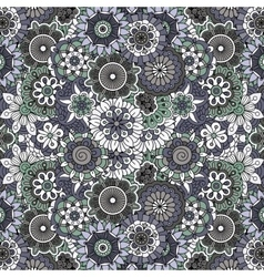 Ornate full frame background with flowers vector