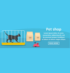 pet shop banner horizontal concept vector image