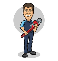 Plumber Character vector image