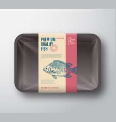 Premium quality pangasius abstract fish vector
